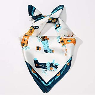 Fashion Lady Silk Scarf Retro Small Square Scarf Stewardess Professional Scarf Silk Scarf (Color : A, Size : 52 * 52cm)