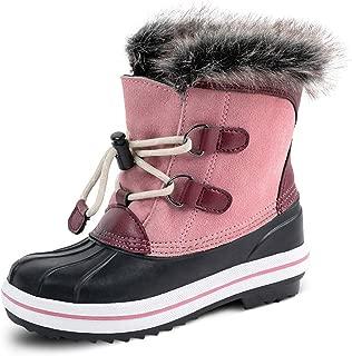 Cow Suede Leather Girls Waterproof Winter Outdoor Snow Boots(Litter Kids/Big Kids)