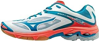 MIZUNO V1GC170074 Wave Lightning Men's Volleyball Shoes, 9 UK, White/Blue
