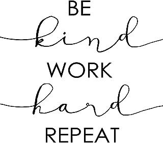 Be Kind Work Hard Repeat Wall Art Decor Print - Motivational Inspirational Quote 11x14 unframed print