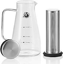 Machabeau Cafeti/ère /à Piston Acier Inoxydable 2L Cold Brew Coffee Maker