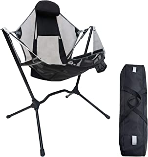 Make Skin Make Bone Swing Camping Chair Portable Rocking Recliner Folding Outdoor Rocker Camp Chairs Foldable for Adults F...