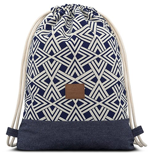 Borsa a Sacco in Cotone Blu - JOHNNY URBAN
