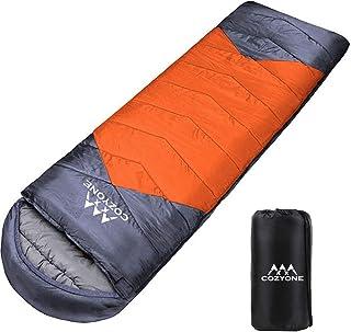 Cozyone [2020 新世代] 寝袋 シュラフ 封筒型 軽量 保温 210T防水 コンパクト アウトドア キャンプ 登山 車中泊 防災用 丸洗い可能 快適温度-5度-25度 950g 1.4kg 1.8kg 春用 夏用 秋用 冬用