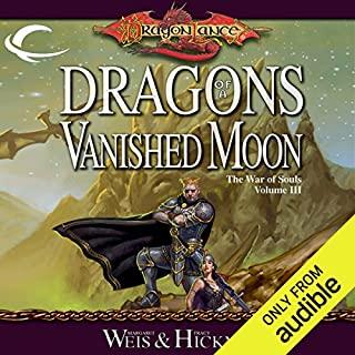 Dragons of a Vanished Moon audiobook cover art