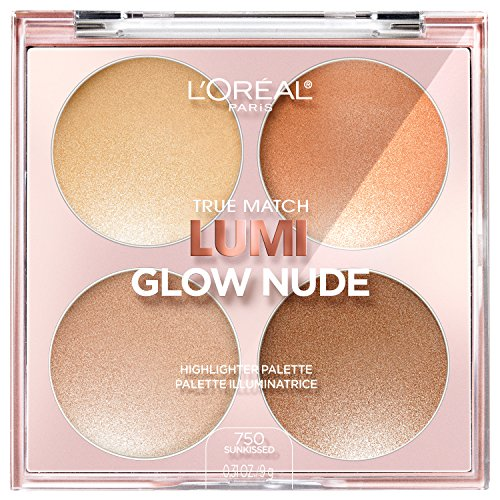 L'OREAL - True Match Lumi, Glow Nude Highlighter Palette, Sun-Kissed - 0.31 oz. (9 g)