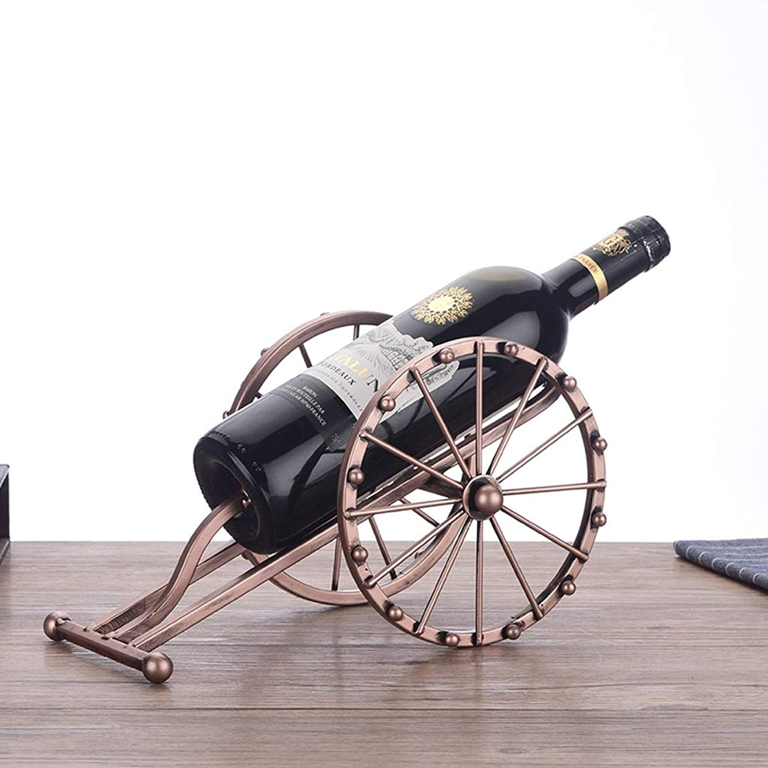 European Style Champagne color Wine Rack Creative Modern Wrought Iron Ornaments Fashion Simple Wine Bottle Rack Household Wine Rack