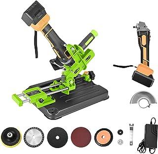 TOPQSC 21 V Draadloze Hoek Grinder Tool met Snijmachine Tafel Saw Adapter 4AH