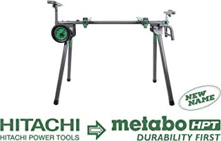 Metabo HPT UU240F Universal Portable Miter Saw Stand With Wheels, Quick-release Mounting Brackets, Accepts up to a 12-inch Sliding Miter Saw, Supports up to 400 lbs