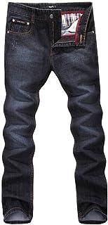 JHX Men Straight Jeans Black
