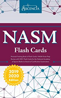 NASM Personal Training Book of Flash Cards: NASM Exam Prep Review with 300+ Flashcards for the National Academy of Sports Medicine Board of Certification Examination