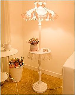 QIFFIY Lampadaire Lampadaire en Bois de Style européen, Lampe Standard Rose pour la Chambre des Enfants Lampe de Plancher...