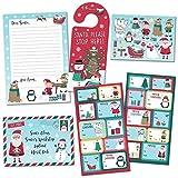 Paper Projects- Pacchetto di Etichette Regalo con Lettera a Babbo Natale del Polo Nord, 01.70.24.065