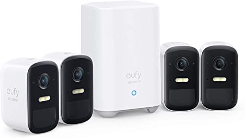 wholesale eufy Security, eufyCam outlet sale 2C 4-Cam Kit, Wireless Home Security System with 180-Day Battery Life, HomeKit Compatibility, 1080p HD, IP67, Night Vision, No wholesale Monthly Fee sale