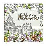 AiSi Géant Livre de Coloriage, Papier Multicolore, Carnet de Croquis, Carnet de Dessin Carré, Coloriage pour Adulte Enfant Format 25 x 25cm