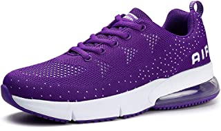 Women Tennis Shoes Breathable Air Athletic Gym Running Sneakers Purple, 9.5
