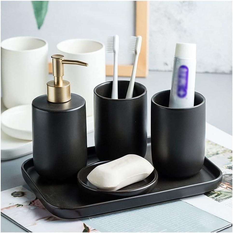Bathroom Accessories Louisville-Jefferson County Mall Set 5 Pcs Decorating Matte Bath Ceramic Max 50% OFF