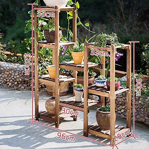 Plante Théâtre massivholzkombination Fleur Étagère Bois sol mehrgesch ossige Pots balcon Salon intérieur Kombi Nation Fleurs Support Idée Cadeau Jardiniers 1006
