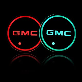 Auto Sport 2PCS LED Cup Holder Mat Pad Coaster with USB Rechargeable Interior Decoration Light fit GMC Accessory