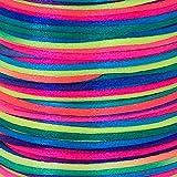 Satinkordel Regenbogen 100 Meter 2mm dick Große Spule Vielseitig einsetzbar bunt
