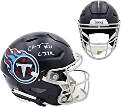 "Chris Johnson Autographed/Signed Tennessee Speed Flex Authentic Helmet with""CJ2K"" Inscription"