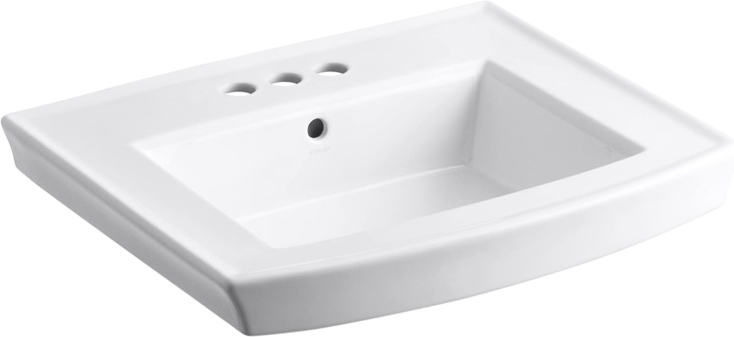 Kohler 2358-4-0 Vitreous china Pedestal Fort Worth Mall Sink Arch Bathroom 25.6 Sales results No. 1