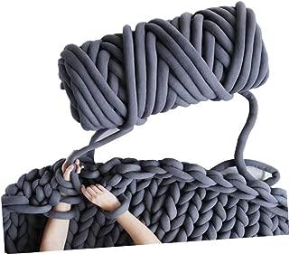 Arm Knitting Yarn, Hand Knitting, Arm Knit Yarn, Bulky Yarn, Jumbo Yarn, Giant Yarn,Cotton Tube Yarn, (Dark Grey)