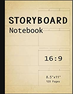 Storyboard Notebook: Blank Storyboard Sketchbook |Template Panel Pages for Storytelling & Layouts with 16:9 Story Board Fr...