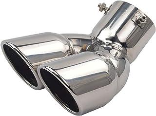 Color : Silver Auspuffblende Edelstahl-Abdeckung Dekor for Mitsubishi Outlander 3 Auspuff-Schalld/ämpfer-Tipps Hinterer R/ückspeise-Spitzen-Endrohr Endbesatz 2013-2018 Auspuff Endrohr
