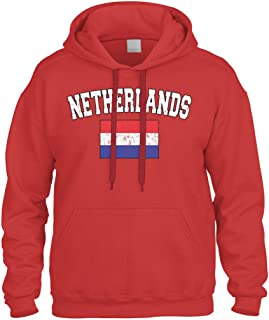 Cybertela Faded Distressed Netherlands Flag Sweatshirt Hoodie Hoody