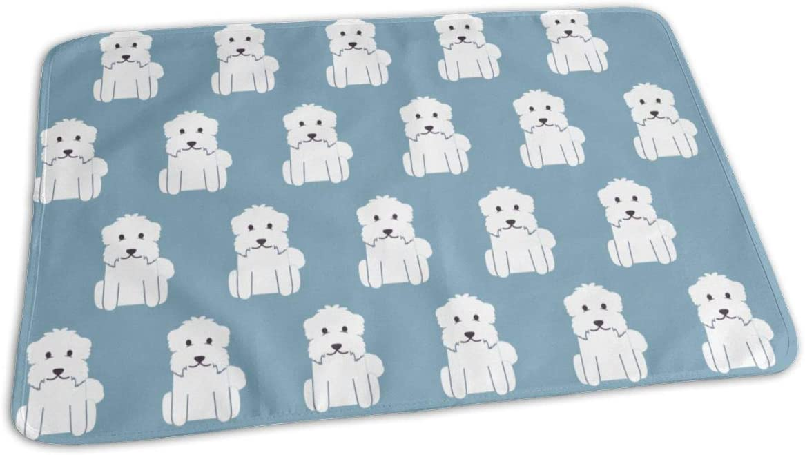 UAJAR White Terrier Maltese Dog 2021 spring and summer new Baby Changing Reusable Pattern P Super popular specialty store
