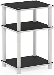 FURINNO Just 3-Tier End Table, 1-Pack, White/White,11087WH(E