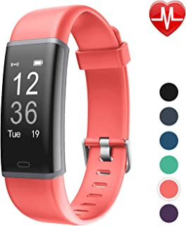 LETSCOM Fitness Tracker, Heart Rate Monitor Bluetooth Activity Tracker Watch with Sleep Monitor, Step Counter, Calorie Counter, Waterproof Pedometer Watch for Kids Women and Men