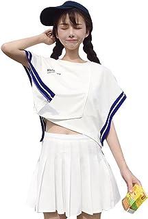 (ニカ)レディース スカートスーツ お洒落 着痩せ薄手 ファッション スカート Tシャツ 2点セット 個性 シャツ