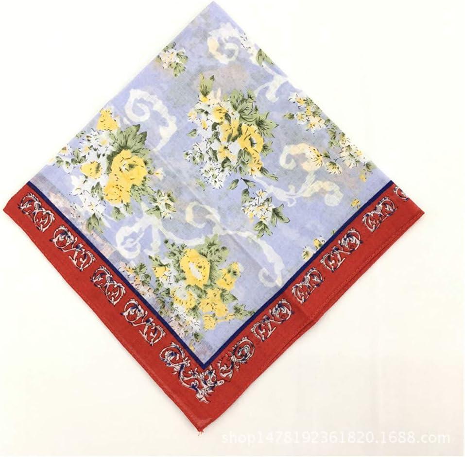 Cntqiang 12 Pcs Printing Floral Cotton Soft Handkerchief Women Hankie Wedding Pocket Square Adult Gift