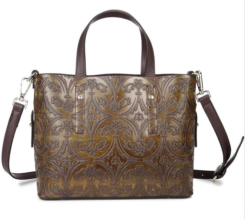 Hulday Handtaschen Frauen Einzigen Schultertasche Einfache Vintage Handgemacht Paket Einzelne Schultertasche Einfacher Stil Shopping Arbeiten Schule Taschen (Farbe   Colour, Größe   One Größe)
