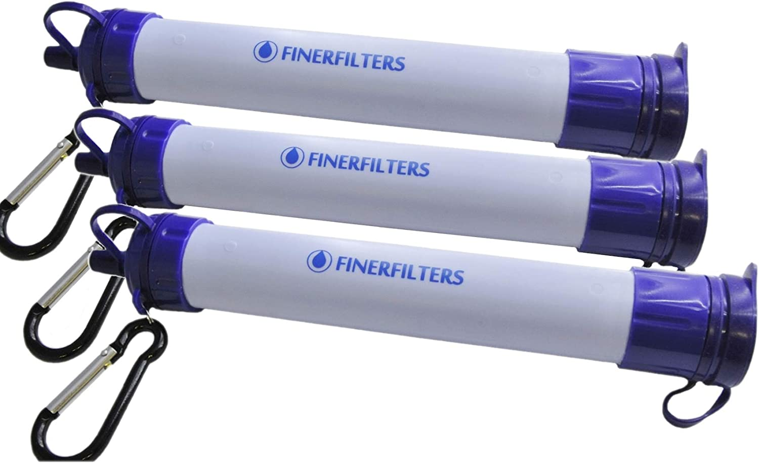 Ideal For Camping /& Hiking etc. FINERFILTERS Personal Portable Water Filter Straw with Activated Carbon 0.01 Micron Filter Membrane Provides Microbiological Water Purification