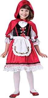 Yalla Baby Girls 3 Piece Set Deluxe Costume Dress of Little Red Riding Hood & Christmas for Girls Kids Party Gift 4-12 Yea...