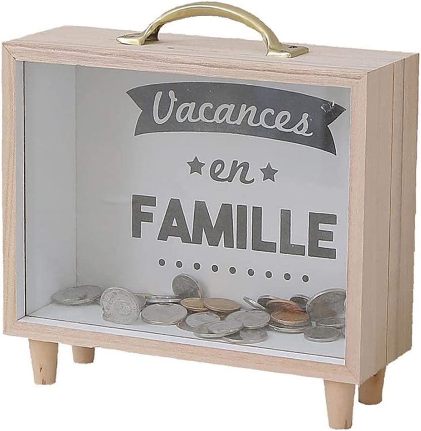 QGZLX Ranking TOP20 Max 44% OFF Piggy Bank Can Novelty Wooden W Save Box Money Transparent