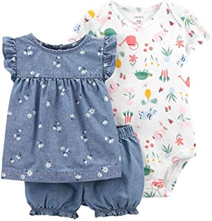 3-Piece Floral Little Short Set from Carters