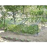 rama serra da giardino in acciaio con telo primizia verde