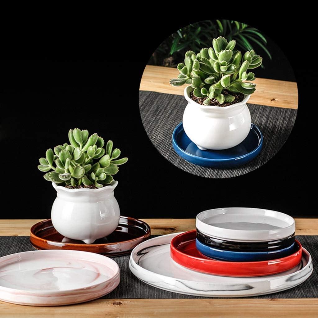 NYKK Plat végétal Plateau de Tampon de Plateau Creative de l'eau du bac de Pot de Fleur Support inférieur Tampon de châssis céramique Plateau Mobile Soucoupe (Color : C) C