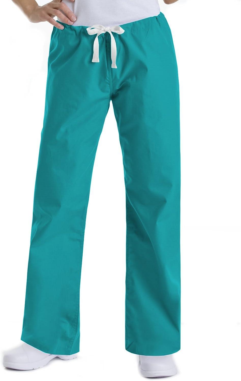Urbane Essentials National products Women's New arrival Straight Scrub Drawstring Leg Pants-95