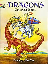 dragons coloring book for men