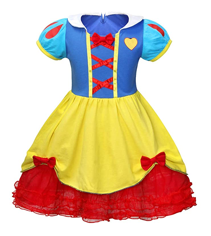 HenzWorld Jessie Anna Elsa Snow White Costume Dress Girls Princess Birthday Party Cosplay Outfit
