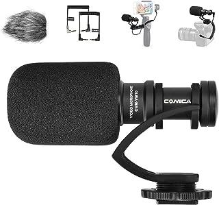 Goproマイク COMICA CVM-VM10II 外付けマイク ショットガンマイク カーディオイド指向性 コンデンサーマイクロフォン スマートフォン、Goproやカメラに対応