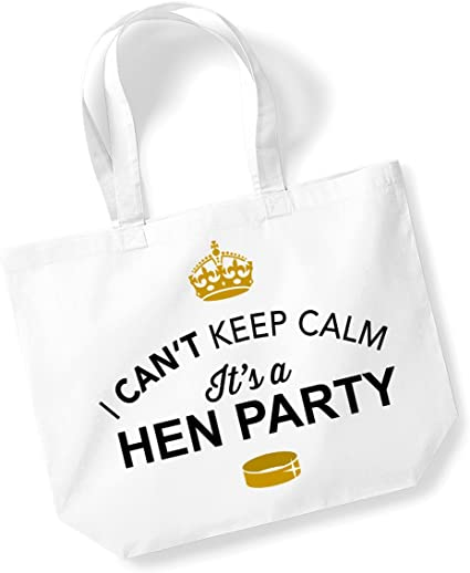 Hen Party Bachelorette Party Hen Party Bag Hen Do Gifts Presents For Guests Ideas For Bride Present Hen Do Tote Bag Keepsake Team Bride White Amazon Co Uk Kitchen Home