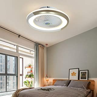 Ilucky Chambre avec Télécommande LED Lampe De Plafond Ventilateur, Moderne 60W Lustre De Ventilateur Plafond Dimmable À Tr...
