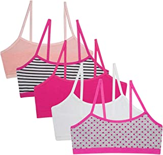Simply Adorable Girls Training Bras Girls' 5-Pack Bralettes and 5 Underwear
