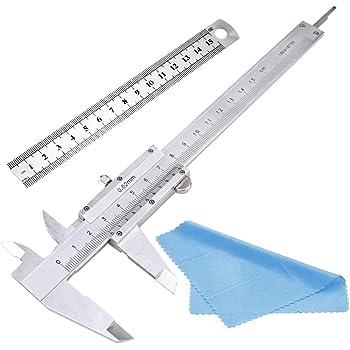 Messschieber 150MM Rostfreier Stahl Nabance Messwerkzeug Schieblehre Messschieber Rostfreier Stahl Mit 15cm Stahlmaßstab mit Reinigungstuch